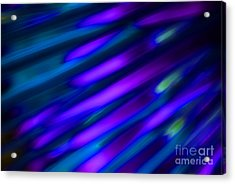 Abstract Blue Green Pink Diagonal Acrylic Print by Marvin Spates