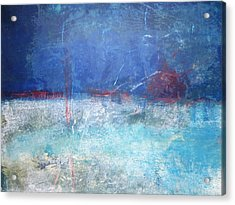 Abstract Blue Horizon Acrylic Print by John Fish