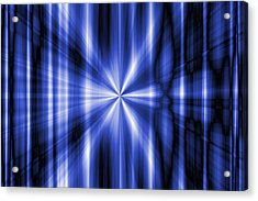 Abstract Blue Rays Background Acrylic Print by Somkiet Chanumporn
