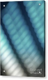 Abstract Blue Reflections Acrylic Print by Amy Cicconi
