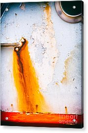 Acrylic Print featuring the photograph Abstract Boat Detail by Silvia Ganora