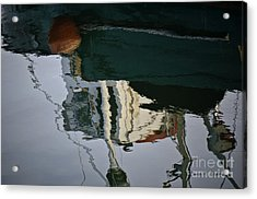 Abstract Boat Reflection II Acrylic Print by Dave Gordon