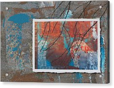 Abstract Branch Collage Acrylic Print by Anita Burgermeister