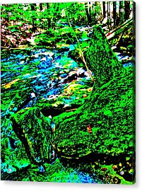 Abstract Brook Bits 56 Acrylic Print