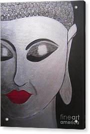 Abstract Buddha Acrylic Print by Priyanka Rastogi