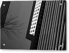 Abstract Building Patterns Black White Acrylic Print