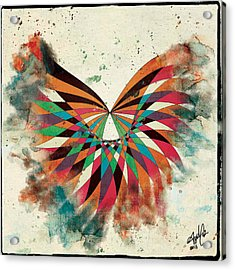 Abstract Butterfly Acrylic Print by April Gann