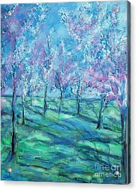 Abstract Cherry Trees Acrylic Print by Eric  Schiabor
