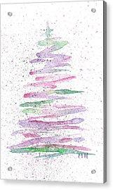 Abstract Christmas Tree Acrylic Print