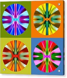 Abstract Circles And Squares 1 Acrylic Print by Amy Vangsgard