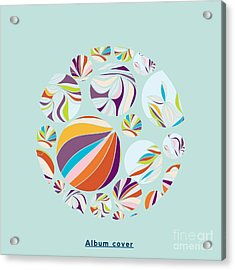 Abstract Circles Background -  With Acrylic Print