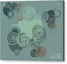 Abstract Circles Pattern Background Acrylic Print by Castecodesign