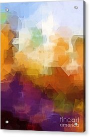 Abstract Cityscape Cubic Acrylic Print by Lutz Baar