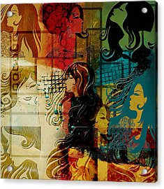 Abstract Collage 01 Acrylic Print by Corporate Art Task Force