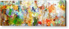 Acrylic Print featuring the digital art Abstract Collage Panorama by Ginette Callaway