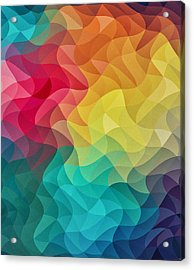Abstract Color Wave Flash Acrylic Print