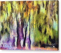 Abstract Colors Acrylic Print by Odon Czintos
