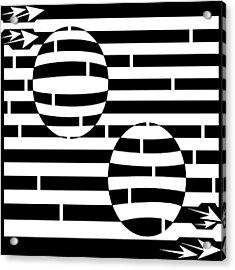 Abstract Concave Convex Maze  Acrylic Print by Yonatan Frimer Maze Artist