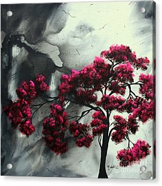 Abstract Contemporary Art Landscape Painting Modern Artwork Pink Passion By Madart Acrylic Print by Megan Duncanson