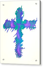 Abstract Cross Acrylic Print by Pattie Calfy