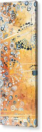 Abstract Decorative Art Original Circles Trendy Painting By Madart Studios Acrylic Print by Megan Duncanson