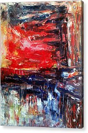 Abstract Acrylic Print by Deeb Marabeh