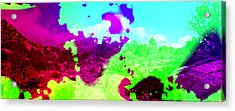 Abstract Desert Scene Acrylic Print by Alan and Marcia Socolik