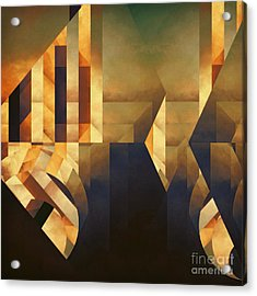 Abstract Dimension Acrylic Print by Lonnie Christopher
