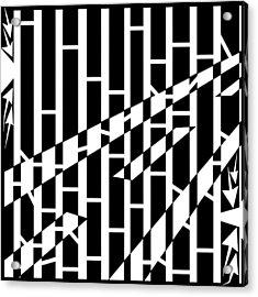 Abstract Distortion Driving Road Maze  Acrylic Print by Yonatan Frimer Maze Artist