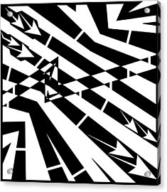 Abstract Distortion Fuel Line Maze Acrylic Print by Yonatan Frimer Maze Artist