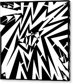 Abstract Distortion Tear In Time Space Maze  Acrylic Print by Yonatan Frimer Maze Artist