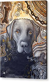 Abstract Dog Art Print ... Rudy Acrylic Print by Amy Giacomelli