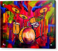 Abstract Drums II Acrylic Print by Pete Maier