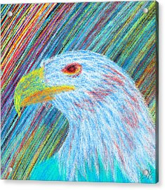 Abstract Eagle With Red Eye Acrylic Print by Kenal Louis