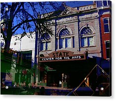 Abstract - Easton Pa - State Theater Center For The Arts Acrylic Print by Jacqueline M Lewis