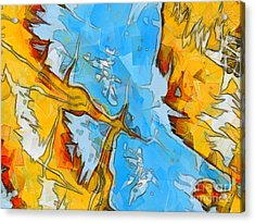 Abstract Elements  Acrylic Print by Pixel Chimp