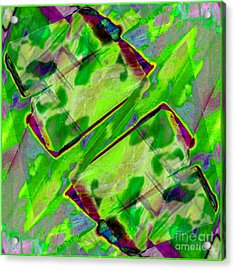 Abstract -  Emotion - Blockage Acrylic Print by Barbara Griffin