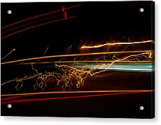 Abstract Evening Lights 1 Acrylic Print by Chase Taylor