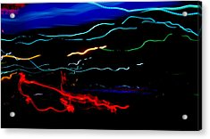 Abstract Evening Lights 2 Acrylic Print by Chase Taylor