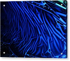 Acrylic Print featuring the photograph Abstract Experimental Chemiluminescent Photography Blue 1 by David Mckinney