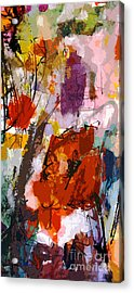 Abstract Expressive Red Poppies Acrylic Print