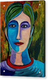 Acrylic Print featuring the painting Abstract Face No1 by Zeke Nord