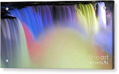 Abstract Falls Acrylic Print by Kathleen Struckle