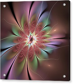Abstract Fantasy Flower Acrylic Print by Gabiw Art