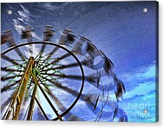 Abstract Ferris Wheel Acrylic Print by Linda Blair