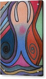 Abstract Figure In Color Acrylic Print by Christine Perry