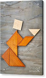 Abstract Figure Offering Tea Acrylic Print