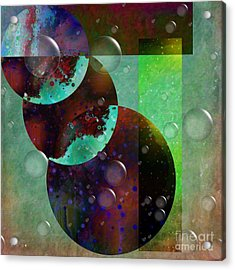 Abstract - Floaters Acrylic Print by Liane Wright