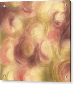 Abstract Floral Artwork Rose Pink Green Acrylic Print by Beverly Brown