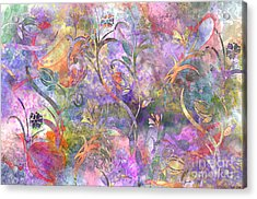 Abstract Floral Designe  Acrylic Print by Debbie Portwood